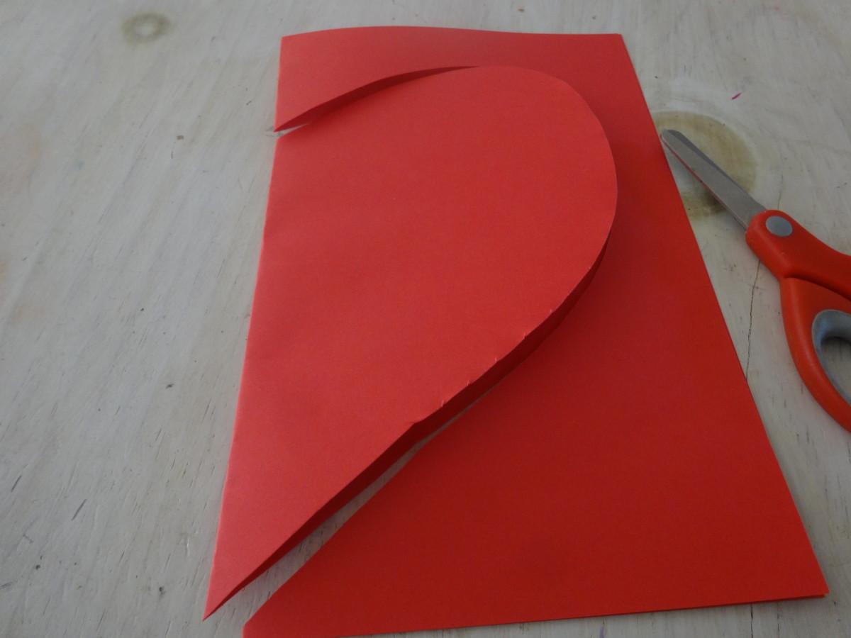 Cut out a heart shape