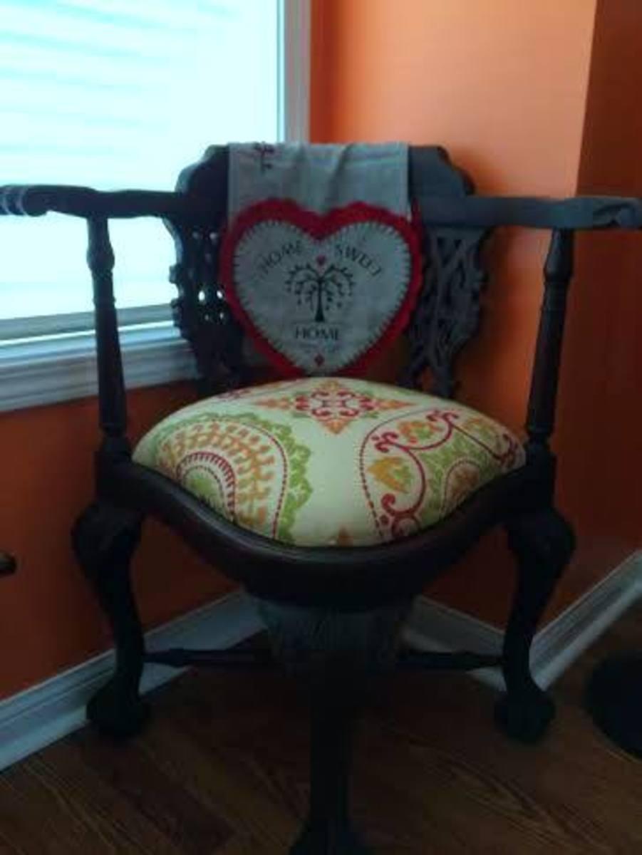 Garage sale find: re-upholstered
