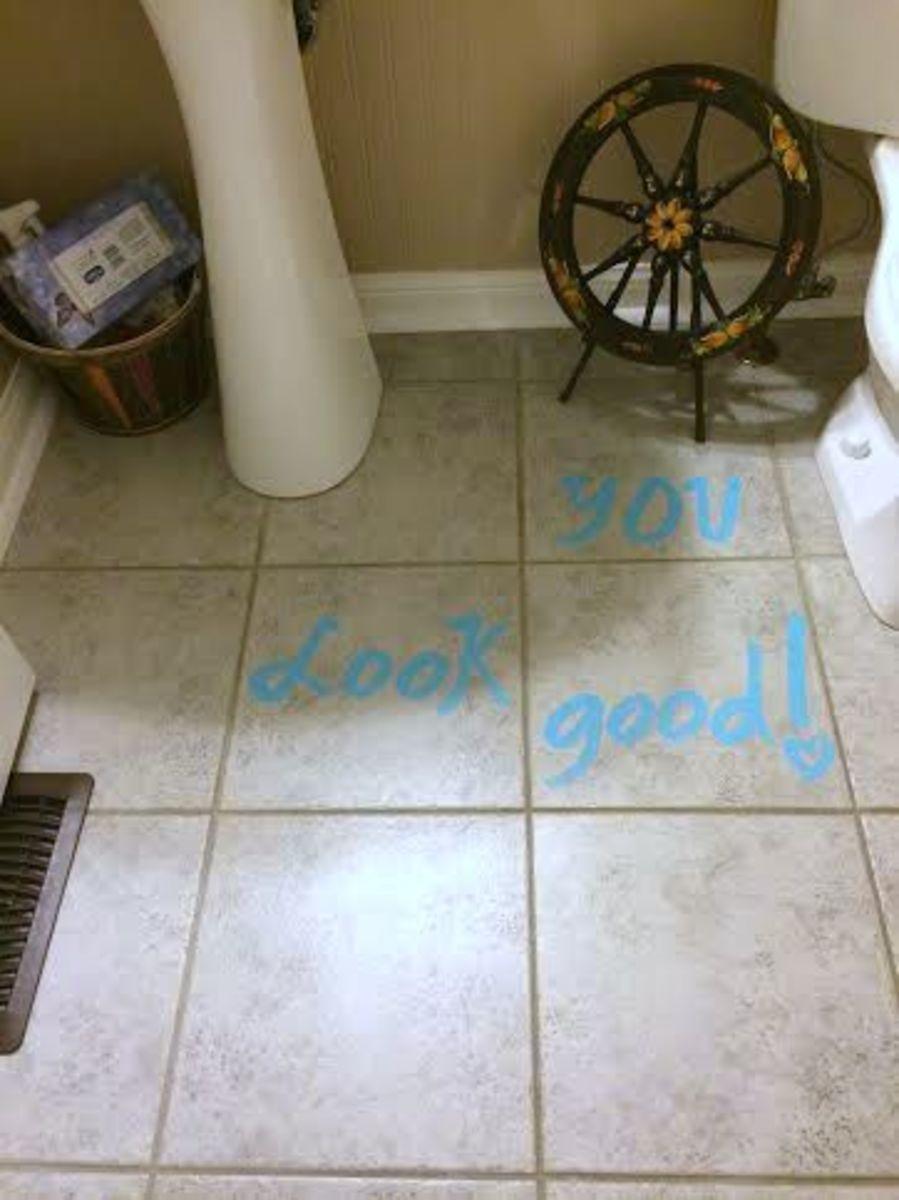 You look good  says the floor!