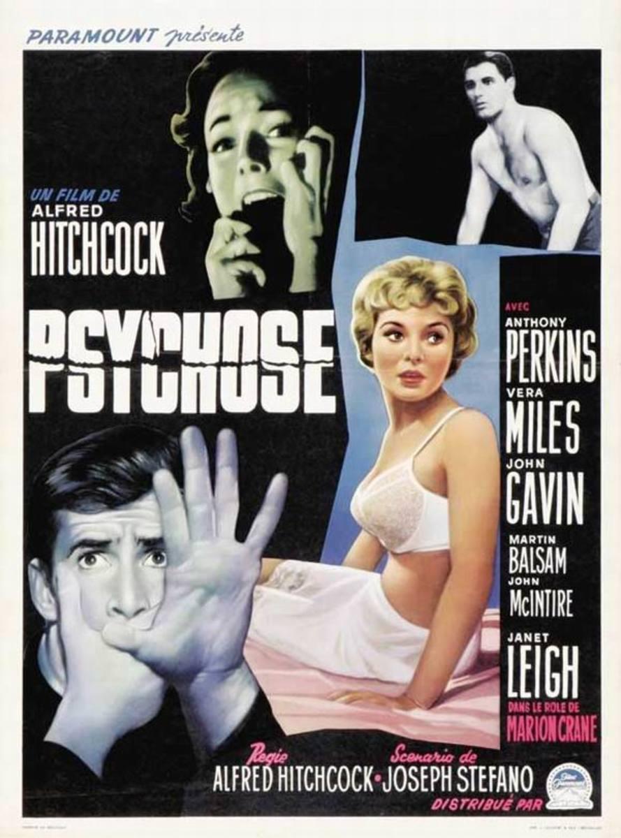 Psycho (1960) Belgian poster