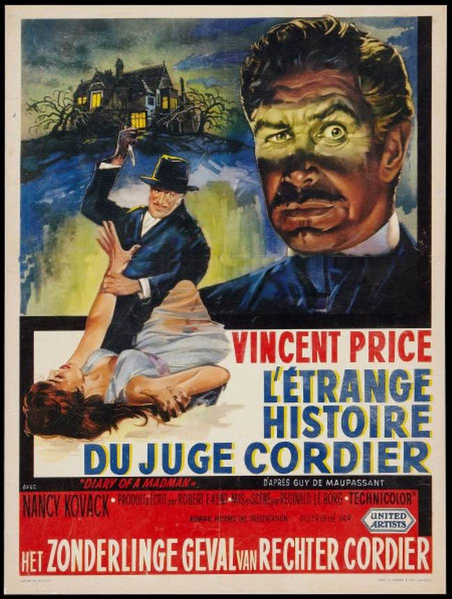 Diary of a Madman (1963) Belgian poster