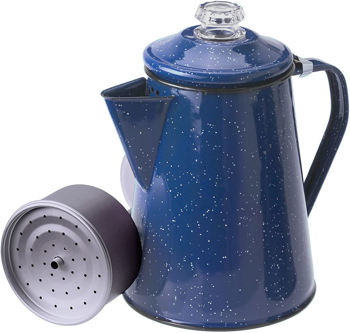 The GSI Outdoors Enamelware Percolator Coffee Pot.