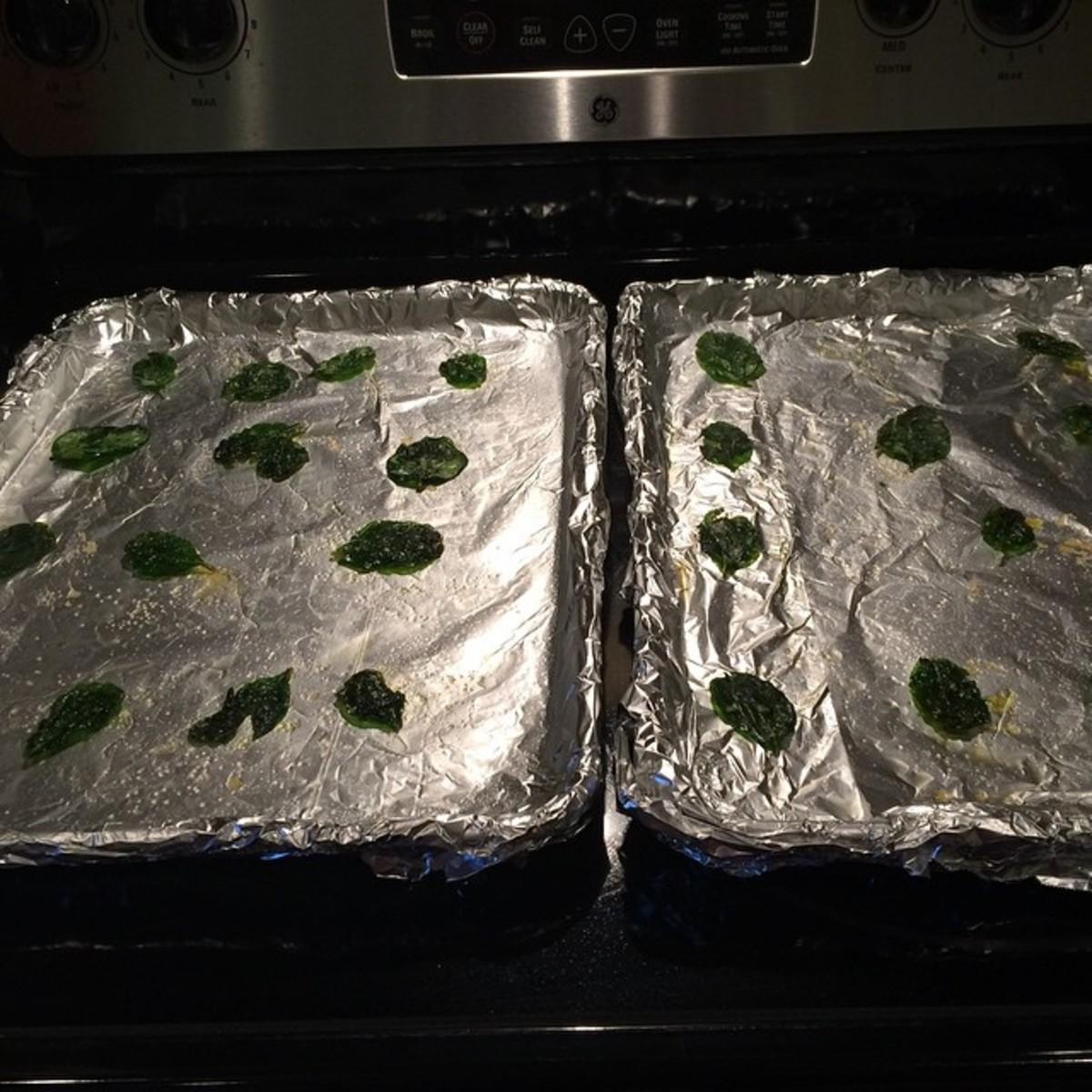 Truffle Garlic and Himalayan Salt Spinach Chips