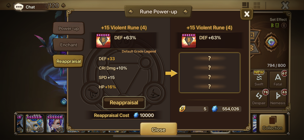 I would not Reappraise this Rune