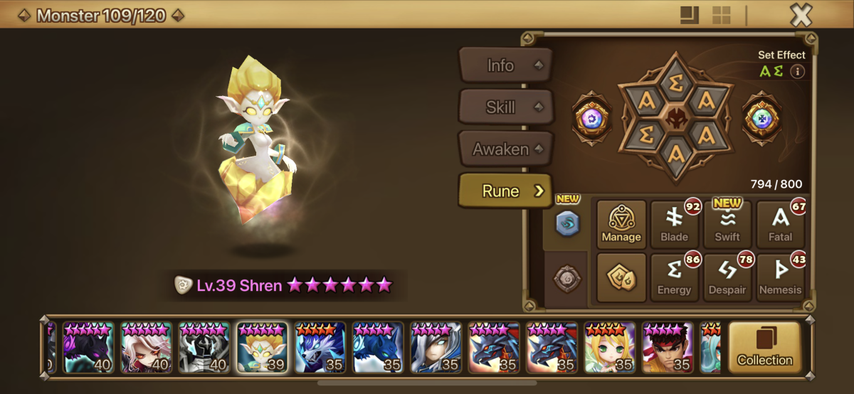 Max Skilled With all Legendary off type runes