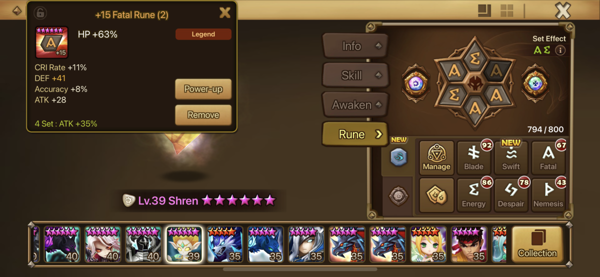 Since how well the monster is runed doesn't matter HP% Fatal still works for World Boss