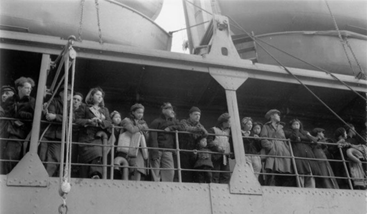 Natives are taken by crowded ships on a 2000 mile journey to an unfamiliar place, where they will be unjustly held for 2 years.