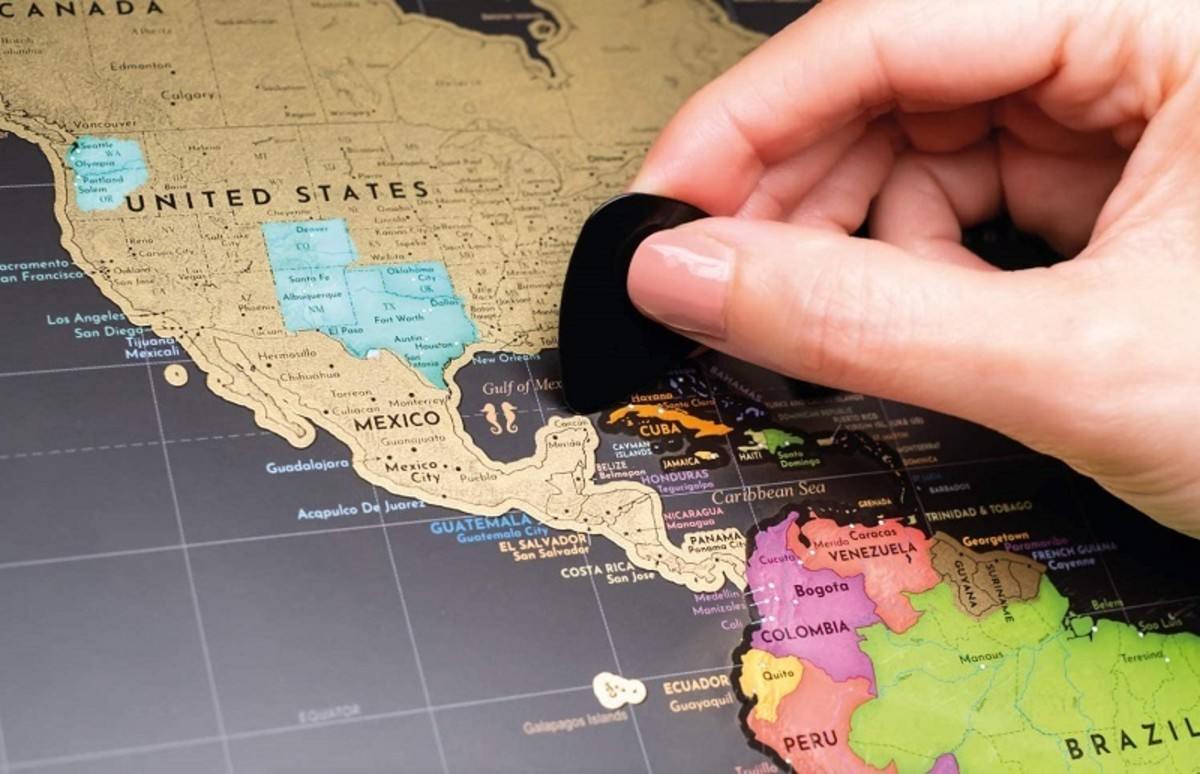 Scratch-off maps record your travels and make great wall posters.