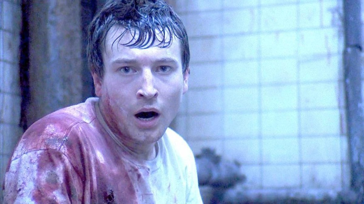 No reason why I chose this one picture of Leigh Whannell other than I thought it'd be funny to praise him while he's covered in sweat and blood.