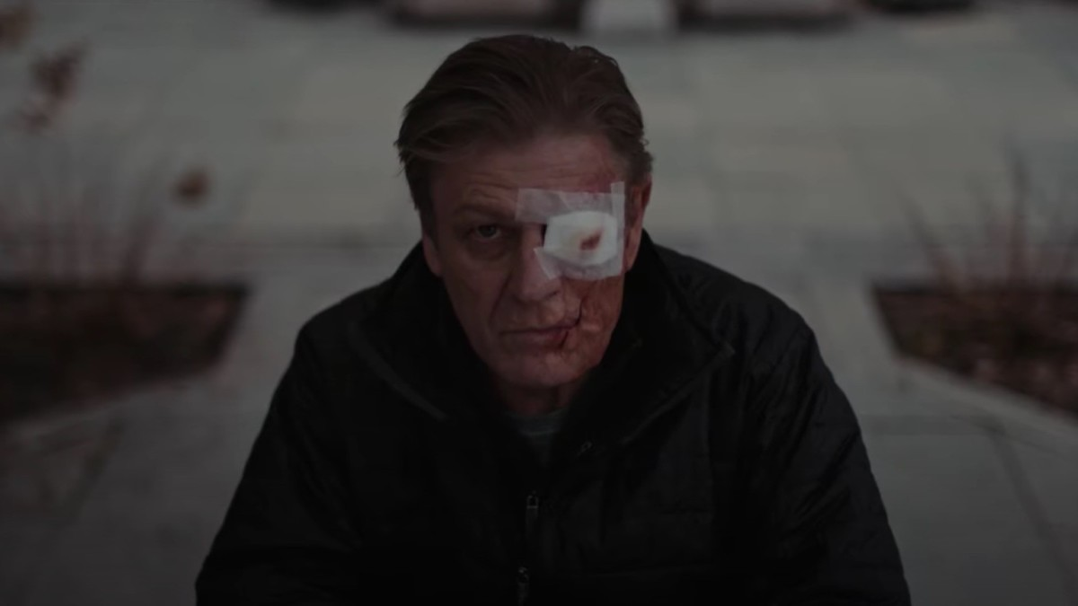 This is just the after math of what happens to poor Sean Bean here... he only wishes this was one of the movies his character died in.