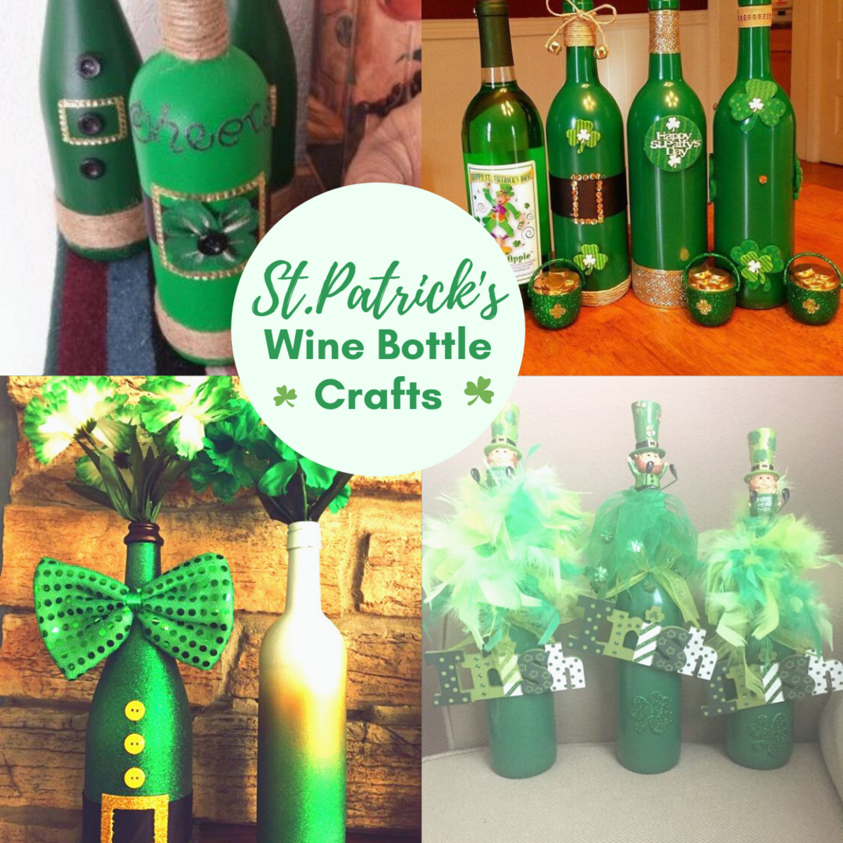 St Patricks Day Wine Bottle Crafts