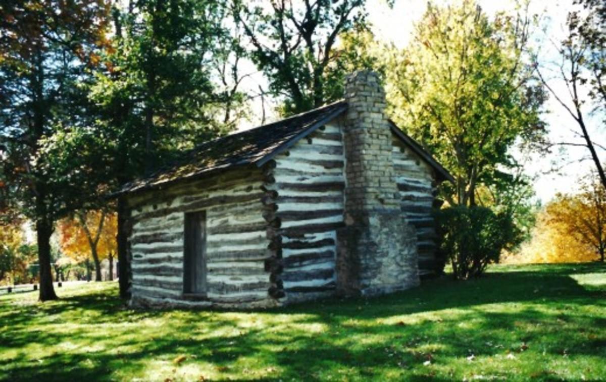 Log cabin built by Andrew Bennett