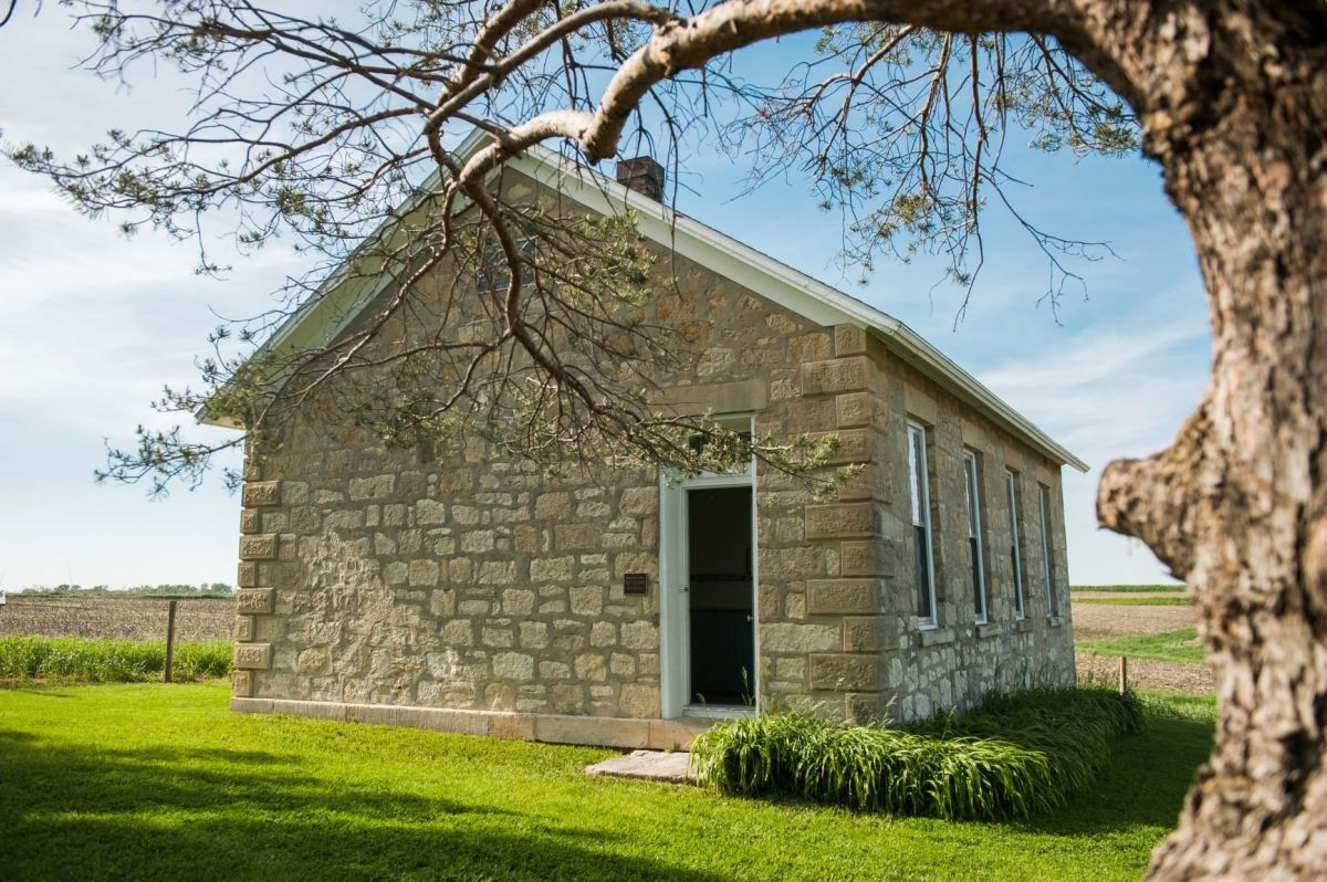The North River Stone Schoolhouse was a one-room country school that operated from 1874-1945 in Winterset, Madison County, Iowa. It is maintained by the Madison County Historical Society.