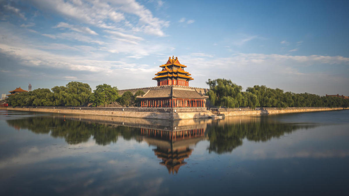 The moat surrounding the Forbidden City