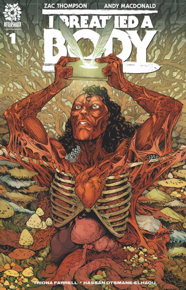 "The main cover for ""I Breathed A Body #1"" is by artist Andy MacDonald and colorist Triona Farrell."