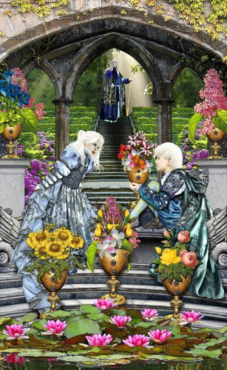 The Six of Cups reminds us to treasure our old friends and our siblings. The card is suggesting we respect our childhoods.