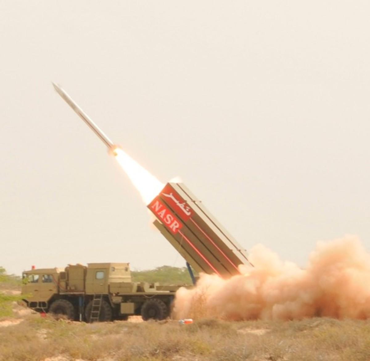 Short Range Surface to Surface Multi Tube Missile Hatf IX (NASR).