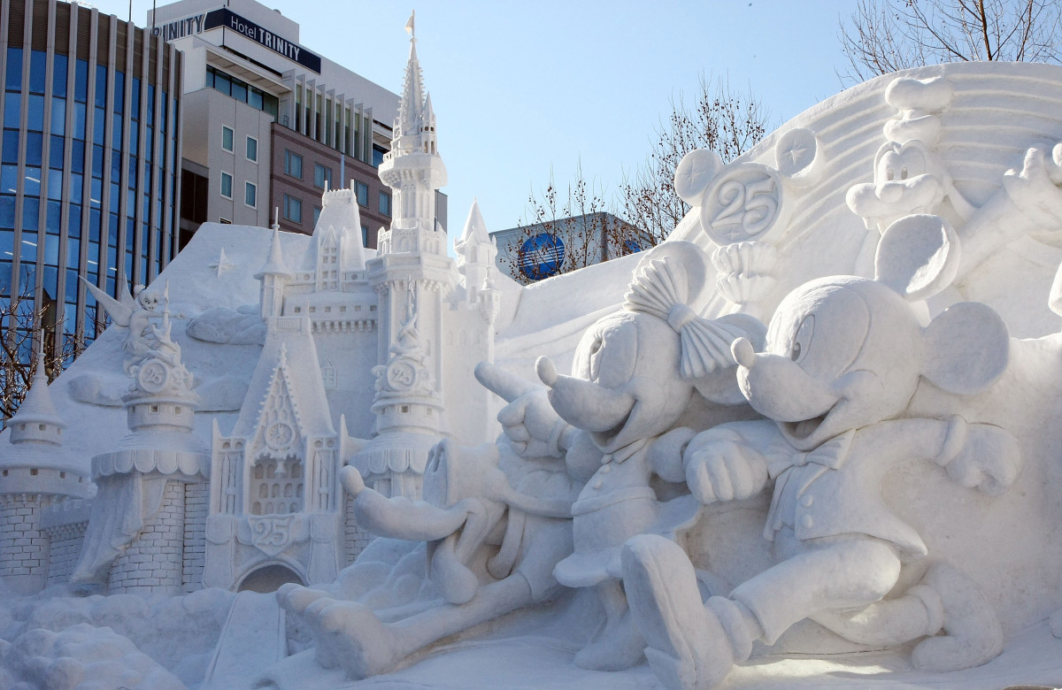 Disney on Ice at Sapporo Snow Festival.
