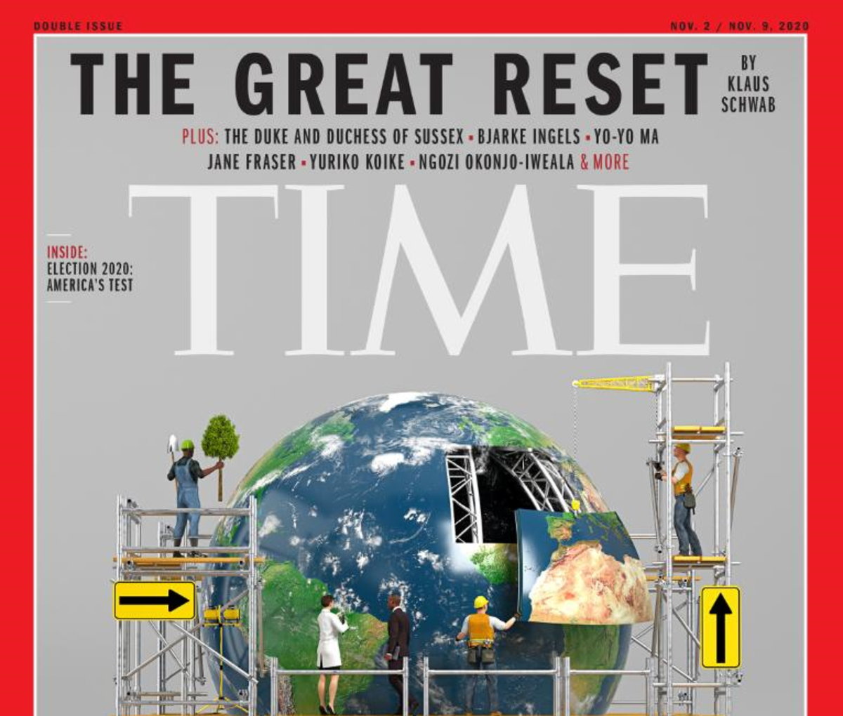 Time magazine cover story on the Great Reset