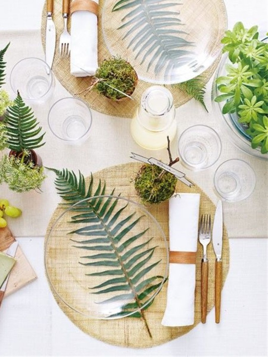 This a wonderful foliage for the setting stylish table.