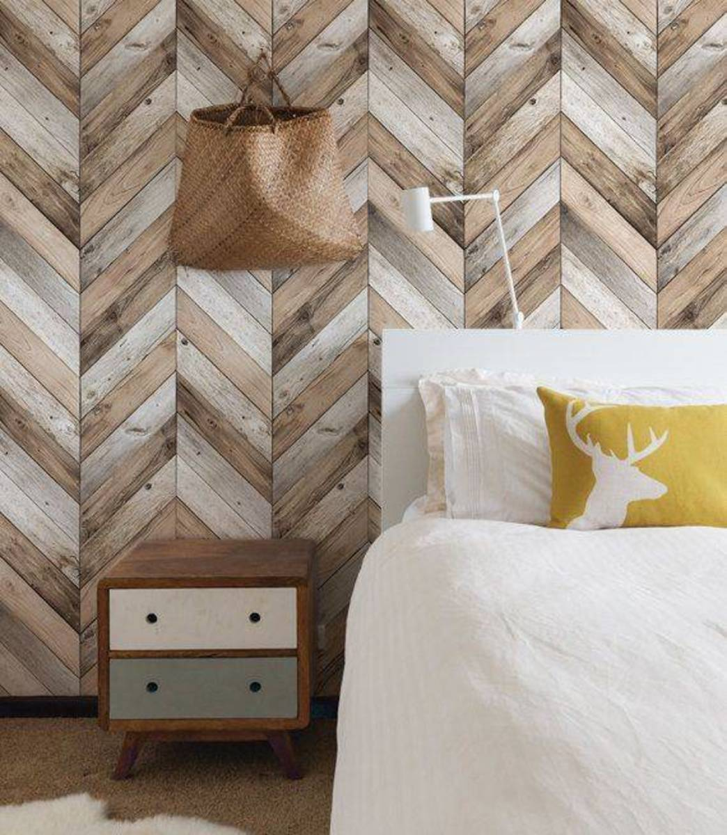 Herringbone warmth traditional wood patterns adds the décor style.