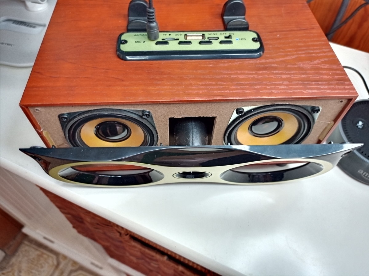 Two 2.4 inch speakers sit behind the faceplate