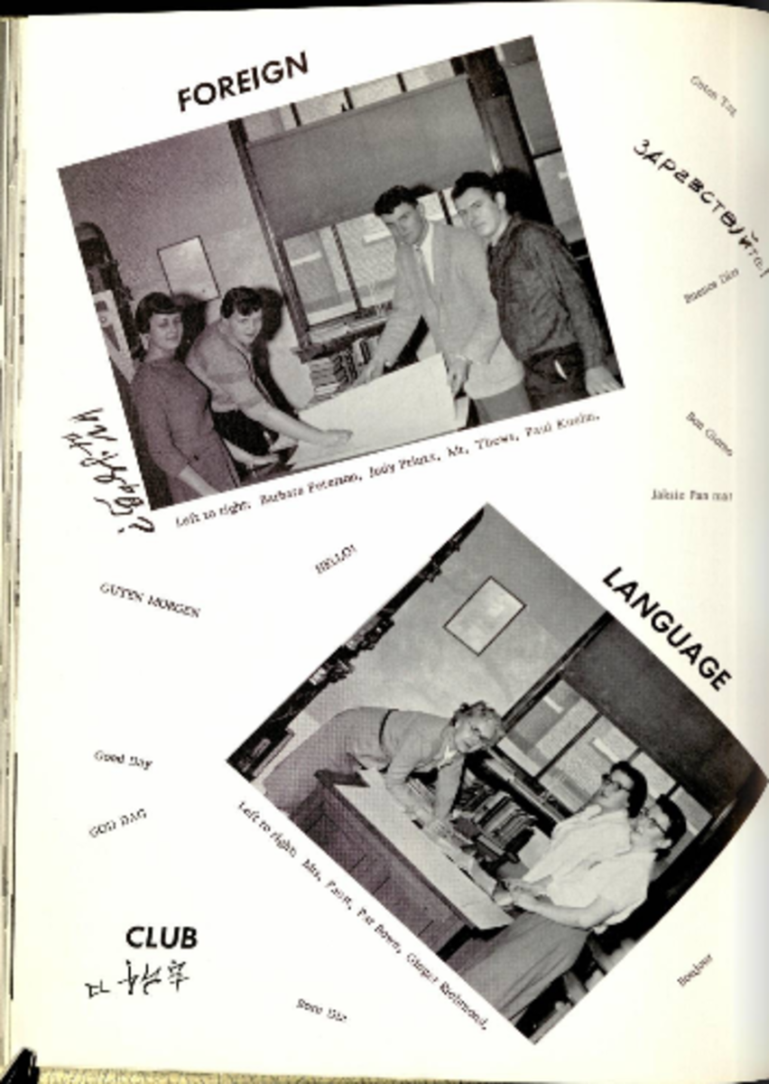 Author as a member of Foreign Language Club