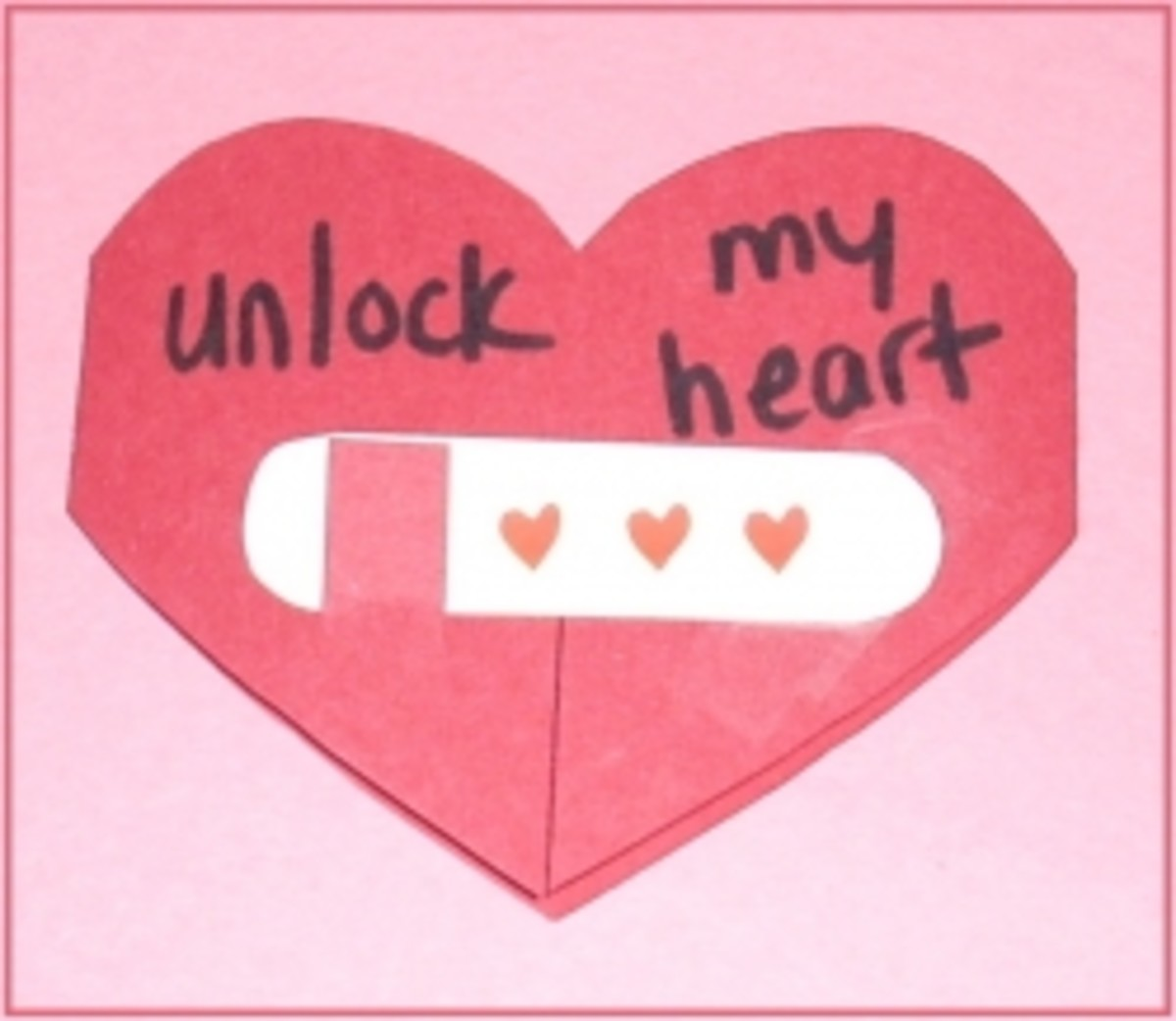 Homemade Valentine Card Unlock My Heart