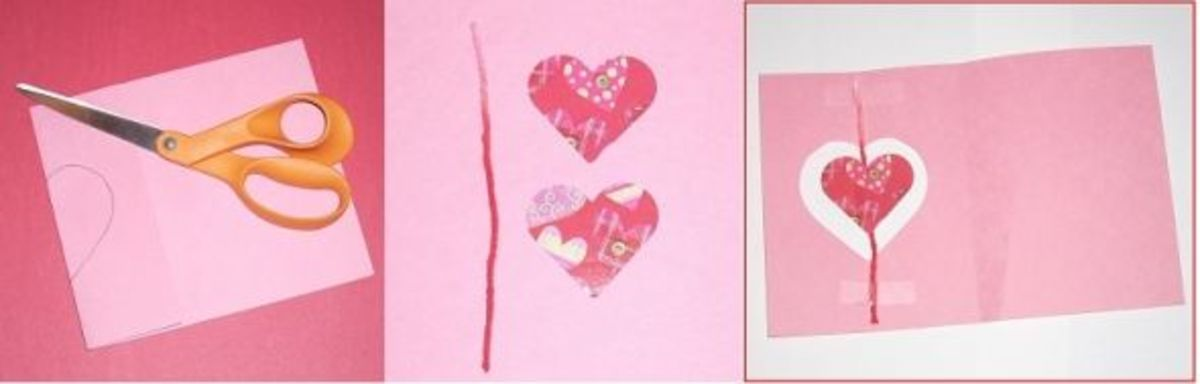 Make Your Own Valentine's Card with Window Instructions