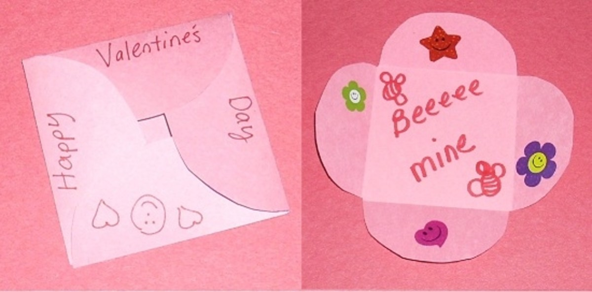 Homemade Valentines Petal Envelope Style
