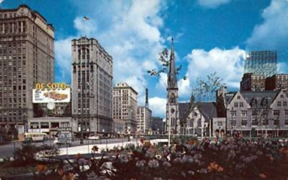 DETROIT MICHIGAN IN THE 1950S