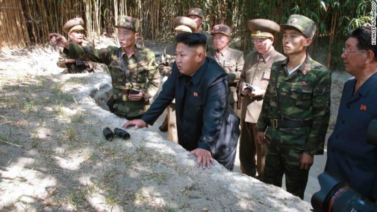 Kim Jong Un Observes Military Exercises with His Top Military Advisers
