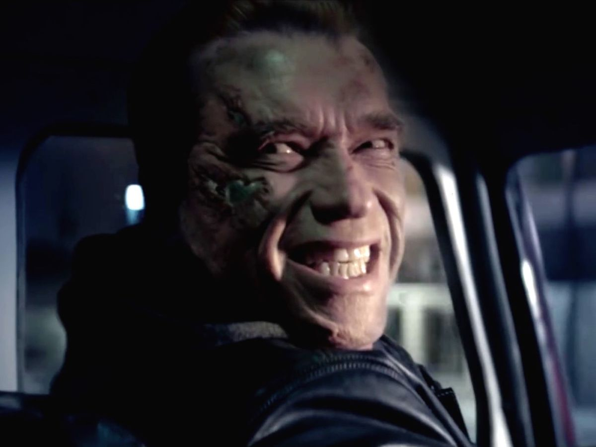 Arnie as the T-800 should never smile.