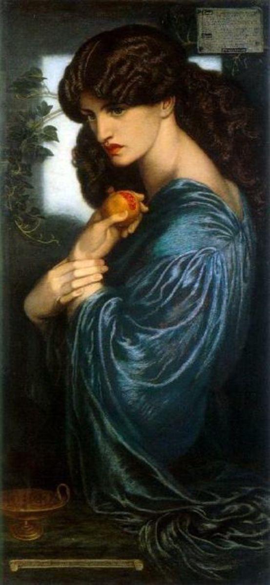 Proserpine/Persephone holding a pomegranate. 1874