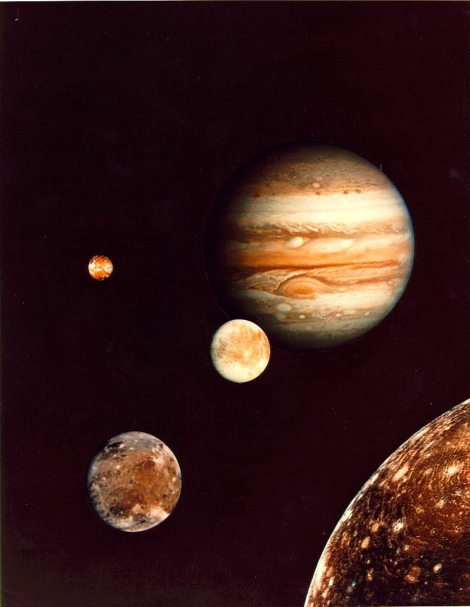 Jupiter the largest planet in the Solar system, you can clearly see the red spot, which is a storm which has been seen since 1831.