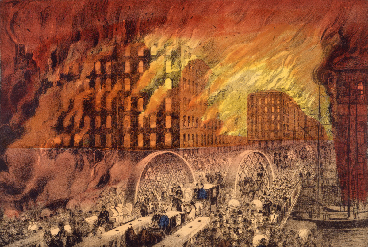 The great burning of Chicago in 1871