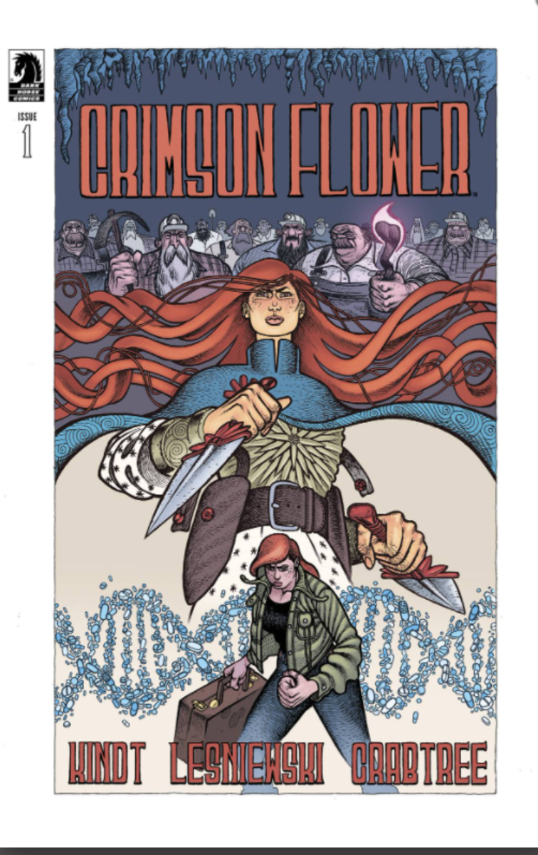 Crimson Flower #1 - Main Cover by Matt Lesniewski with Bill Crabtree