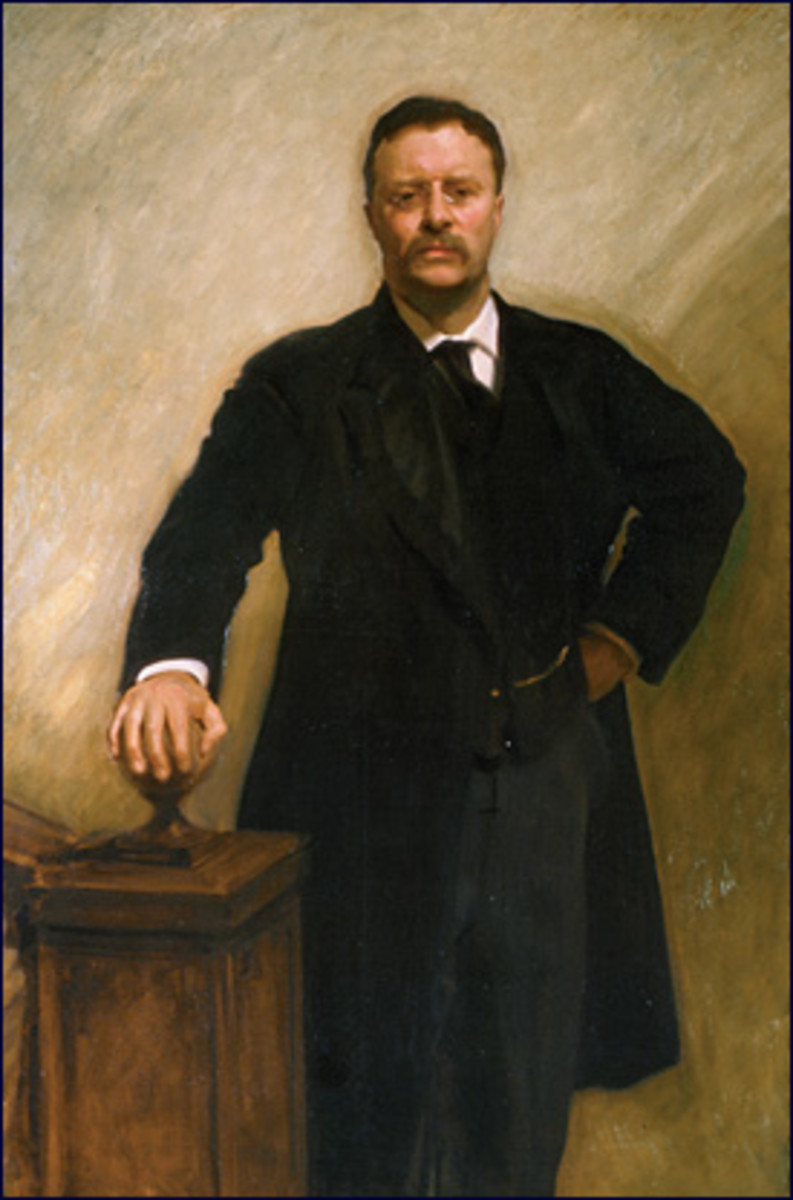 1903 painting by John Singer Sargent - (public domain photo from Wikipedia) Notice that the photo at the top of this page shows a light-colored vest and a different tie.