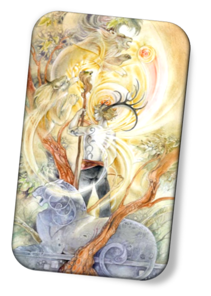 The King of Wands is a natural born leader. They have an understanding of all the elements in their domain. They have the power to tame beasts and big problems. They're diplomats, peacemakers, and 100% decisive.