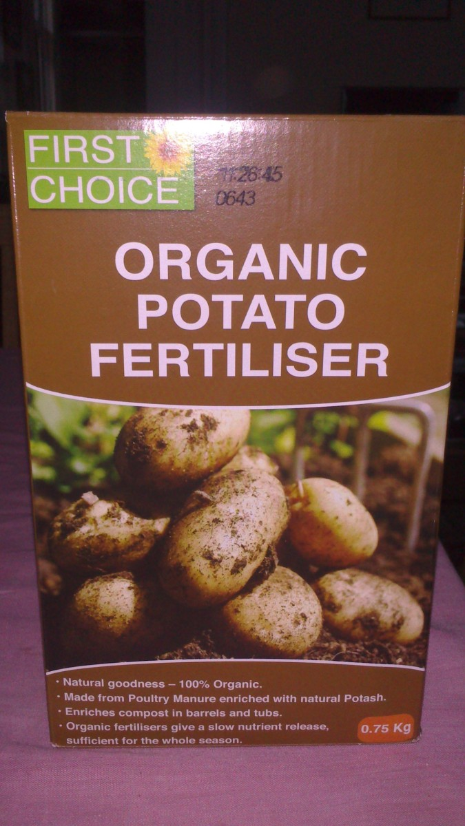 Organic Potato Fertiliser - I use this fertiliser for my spuds as they are very good