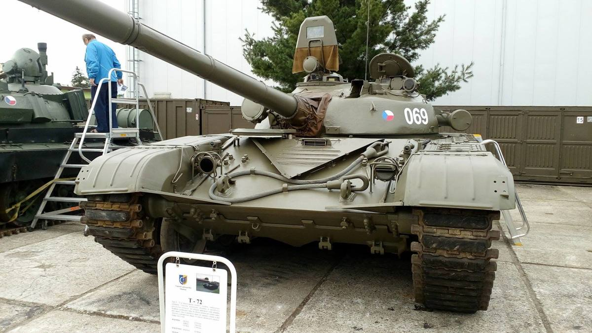 A Czech T-72. This tank is the backbone of Czech tank forces in any era.