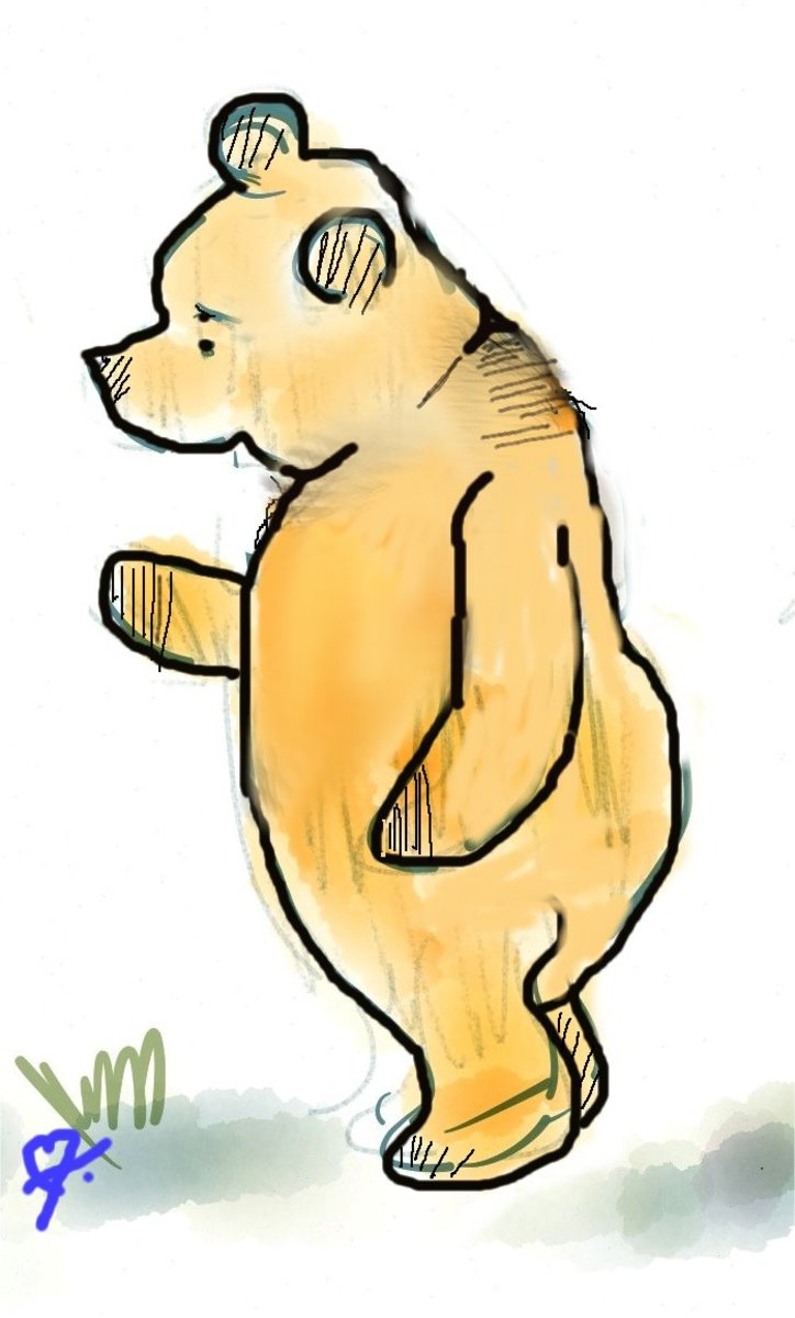 """Is it important to know who I am?"" said Pooh to no one in particular. ""Can I not just be?"""