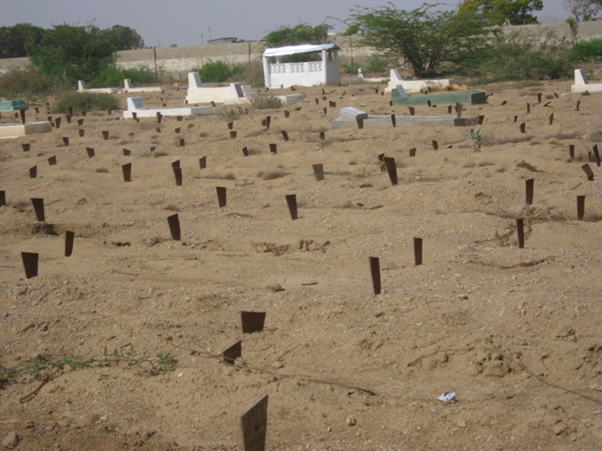 Edhi graveyard and free burial services for the poor