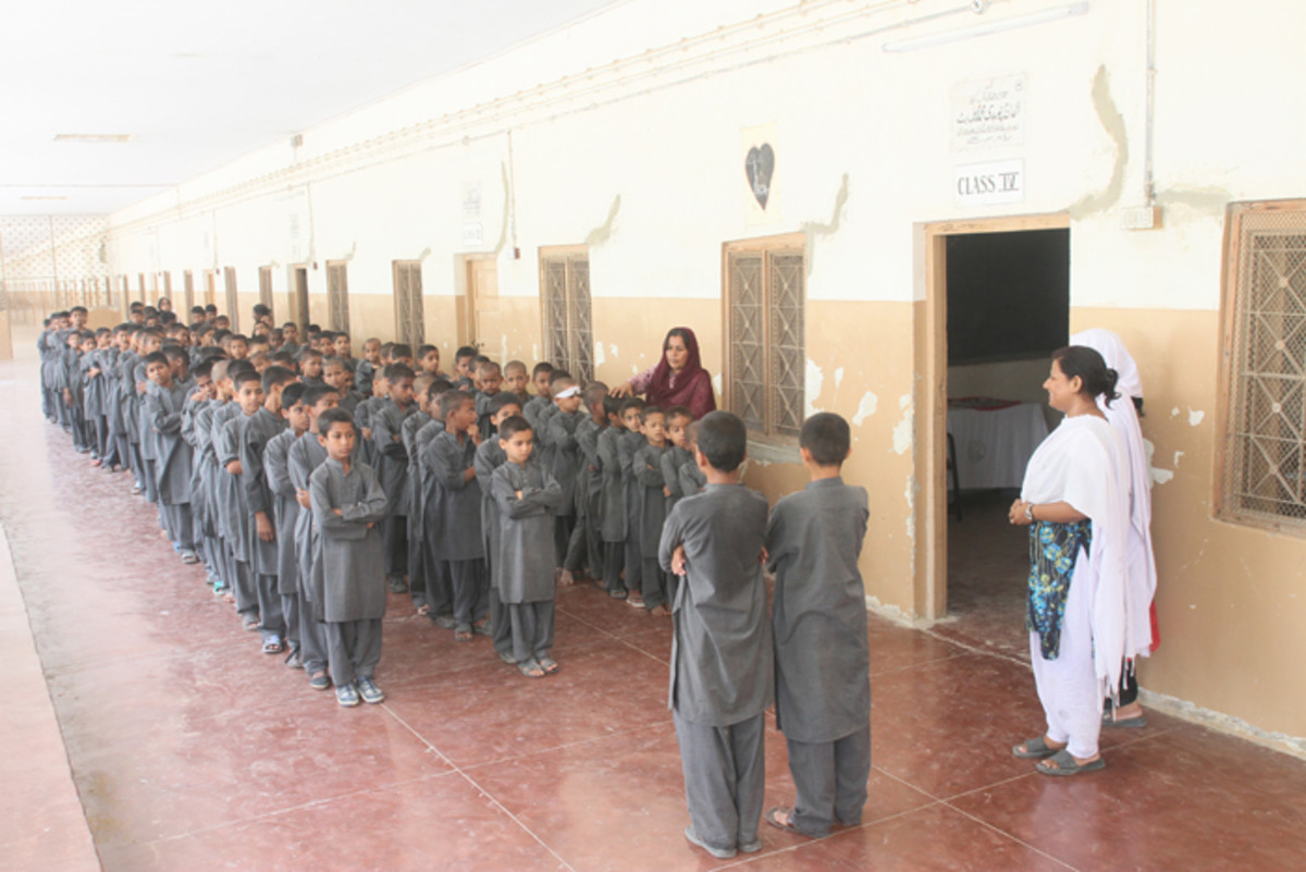 Edhi School, free schooling and home for homeless and orphans