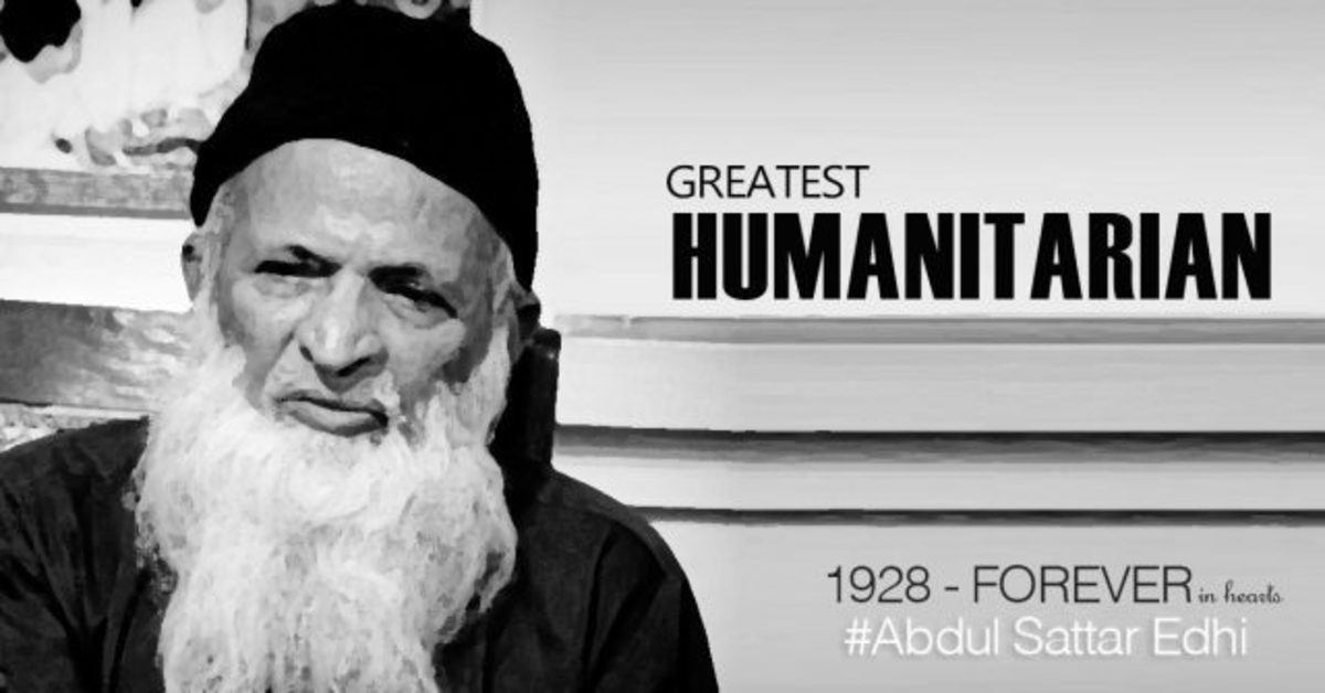 Abdul Sattar Edhi, Greatest Humanitarian Ever, 1928 -' Forever in our Hearts'