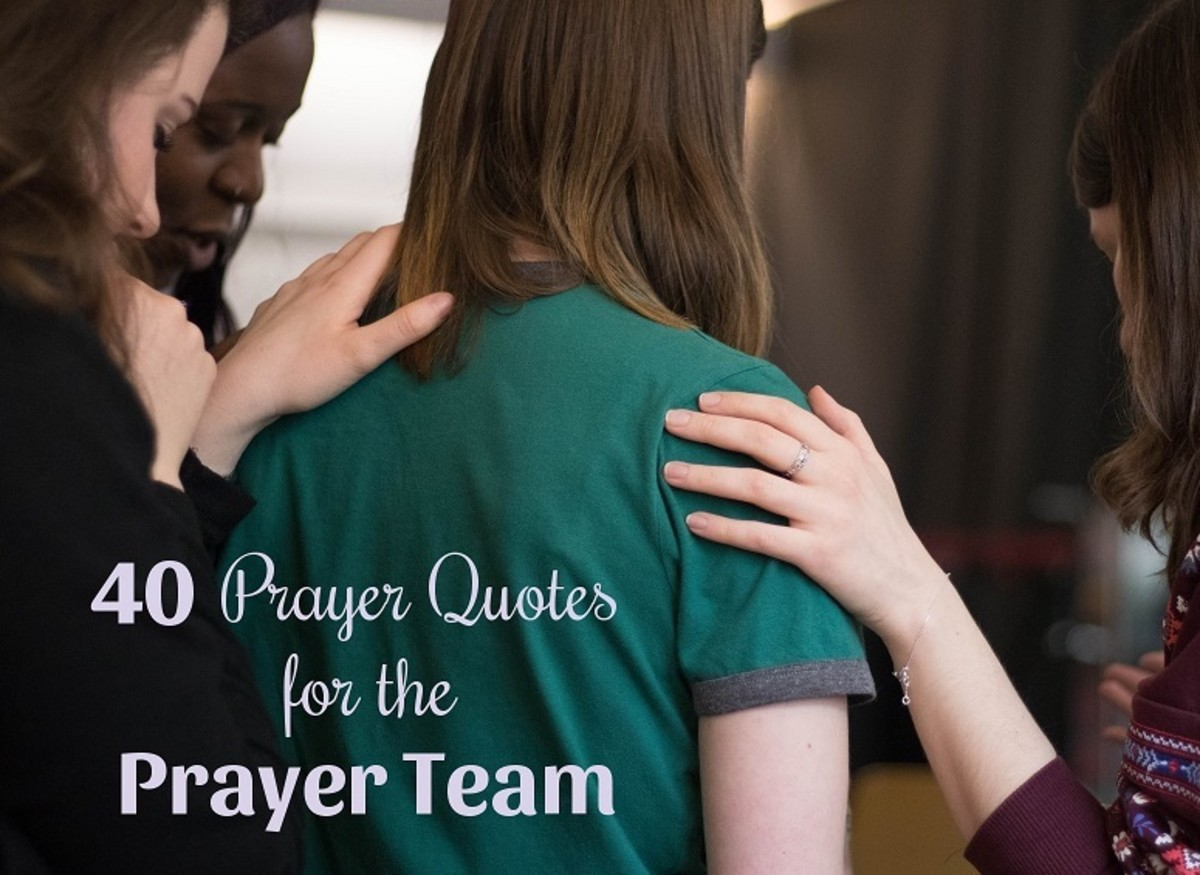 Prayer teams intercede with God for others.