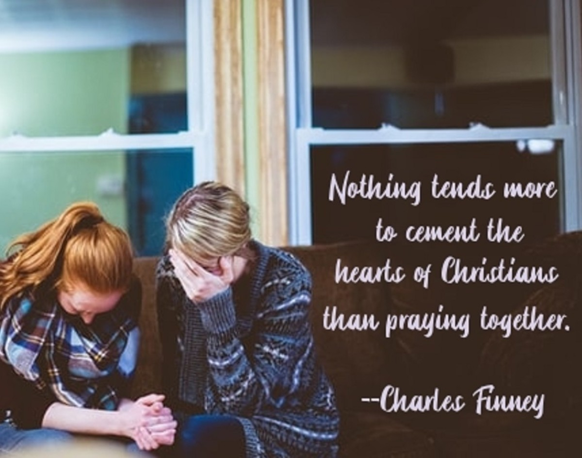Praying together binds the hearts of the pray-ers.