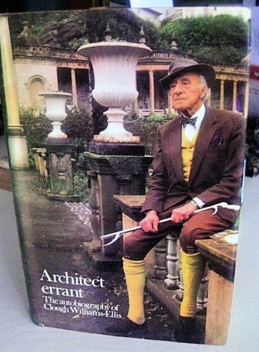 I found a mint SIGNED copy of Clough Williams-Ellis Autobiography so thrilled!
