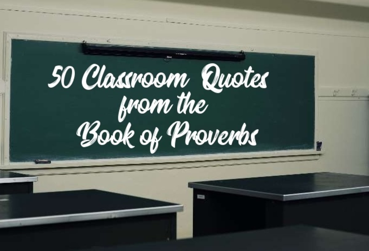 The Book of Proverbs contains several maxims on good education.