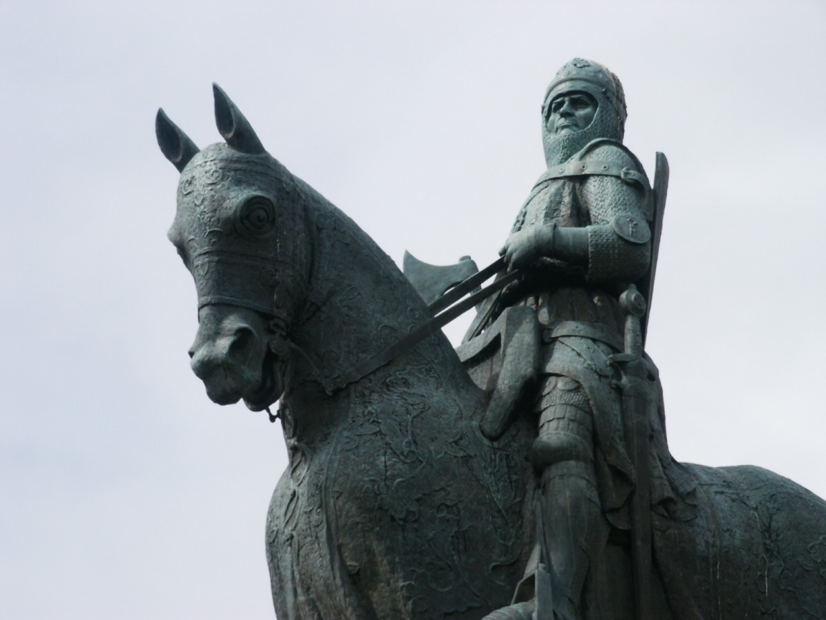Robert the Bruce later led in the victory at the field of Bannockburn.